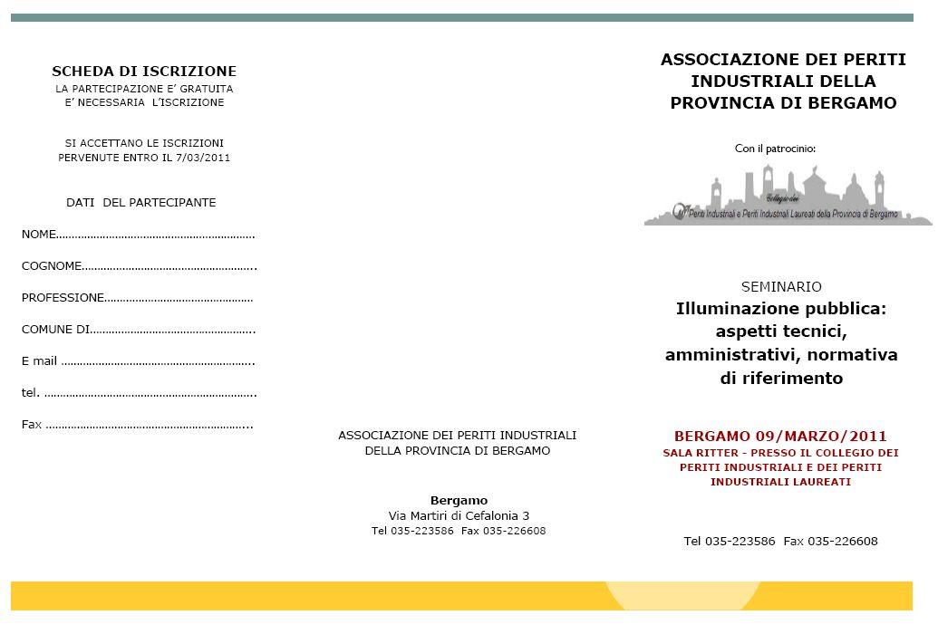 Seminari gratuiti sull'illuminazione a Bergamo e a Milano