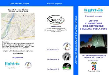 Gorizia 25 Marzo: L.R. 15/07 – ILLUMINAZIONE ECO-SOSTENIBILE E QUALITA' DELLA LUCE