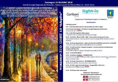 "14 Giugno 2018 Torino – Convegno Eco-Light 4.0 ""Adaptive"""
